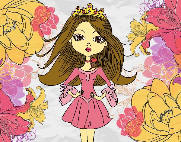 Coloring page Modern princess painted bySkye