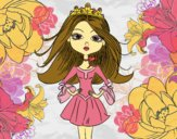 Coloring page Modern princess painted bySkye