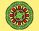 Coloring page Mosaic mandala painted bylorna