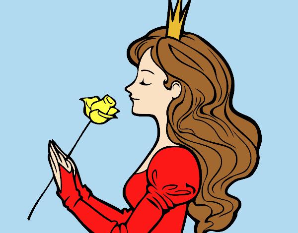 Princess and rose