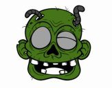 Coloring page Zombie with worms painted byOwen