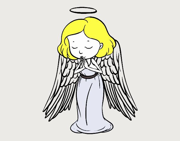 An angel praying