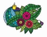 Coloring page Christmas ball with decoration painted bySkye