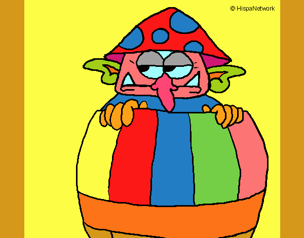 Goblin in a barrel