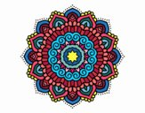 Coloring page Mandala decorated star painted bySkye
