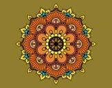 Coloring page Mandala floral flash painted bySage