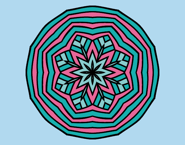 Coloring page Overhead mandala painted bylorna