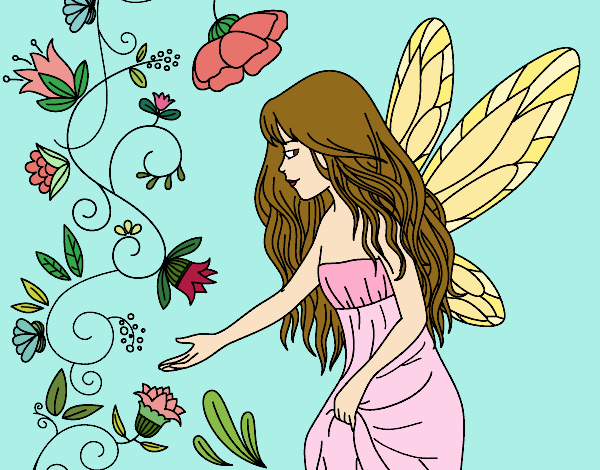 Coloring page Sylph painted bySkye