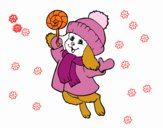 Coloring page Warm bunny painted byDaisy66