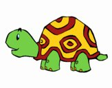 Coloring page Cheerful turtle painted byDaisy66