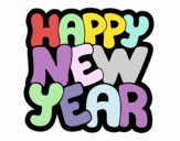 Coloring page Happy new year painted byDaisy66
