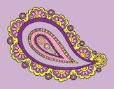 Coloring page Mandala teardrop painted bylorna