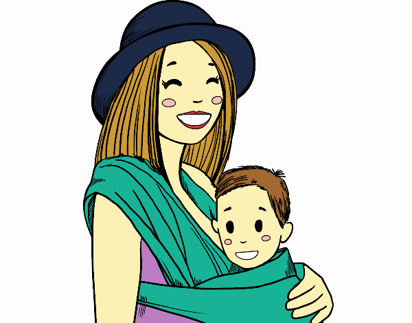 Mom with baby sling
