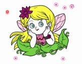 Coloring page Pretty fairy painted byDaisy66