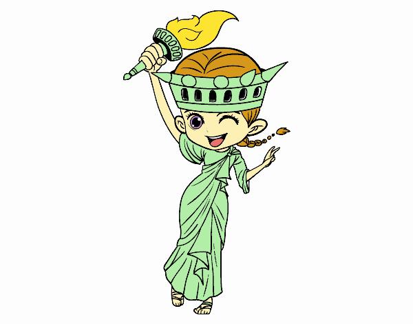 Statue of liberty manga