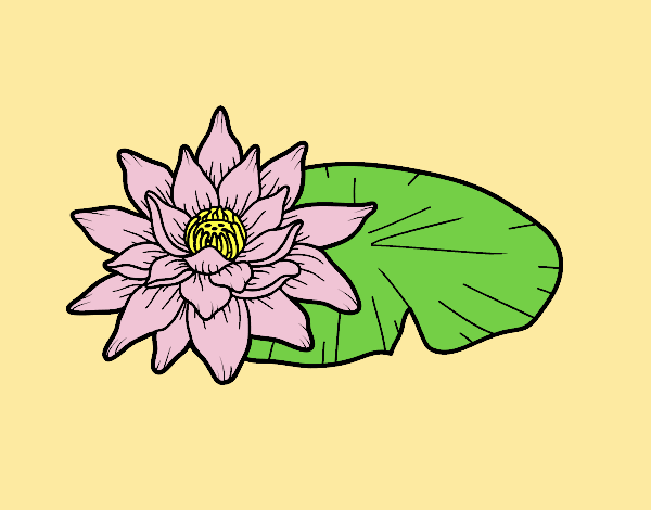 Coloring page A lotus flower painted byLornaAnia