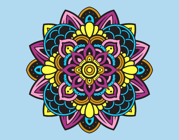 Coloring page Decorative mandala painted byLornaAnia