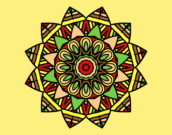 Coloring page Fruit mandala painted byLornaAnia