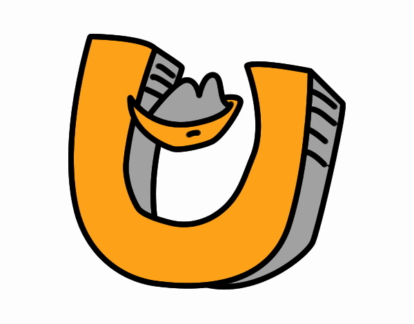 Colored Page Letter U Painted By User Not Registered