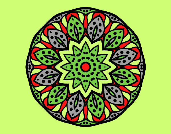 Coloring page Mandala of nature painted byLornaAnia