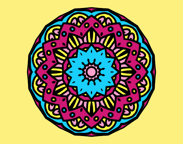 Coloring page Modernist mandala painted byLornaAnia