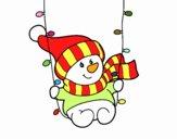 Snowman swinging