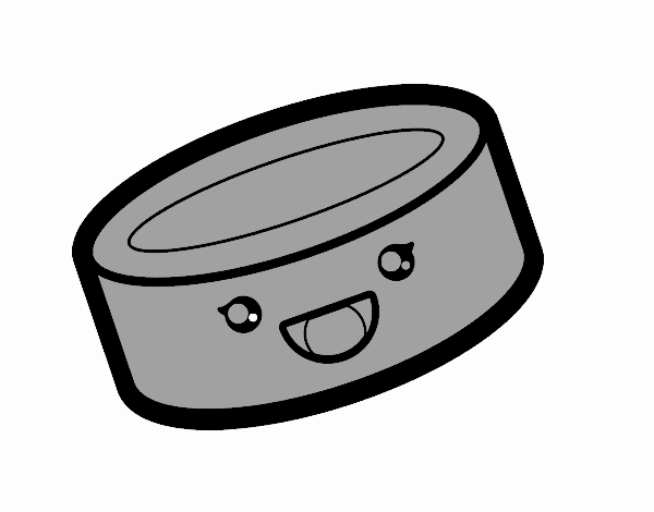 Tin can of food