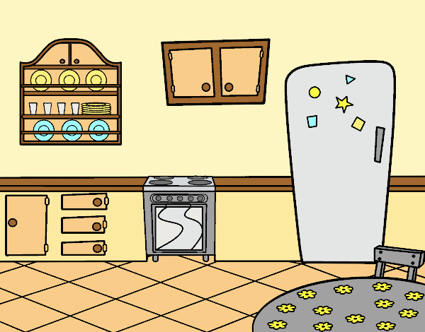 Coloring page Traditional Kitchen painted byLornaAnia