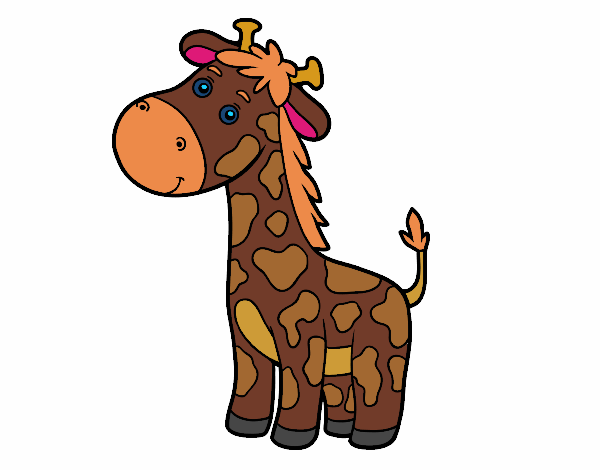 Coloring page A giraffe painted bylibbi
