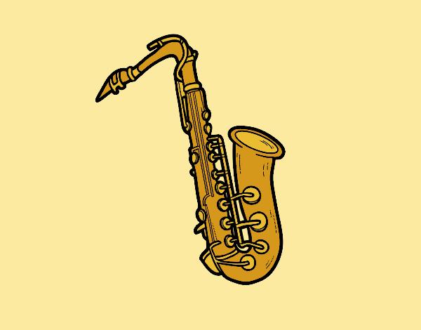 A tenor saxophone