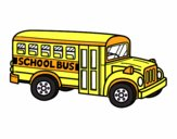 Coloring page American school bus painted byholly1980