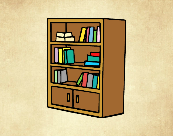 Coloring page Bookcase with drawers painted byLornaAnia