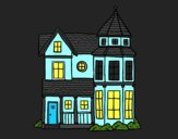 Coloring page Classical manor house painted bynayrb