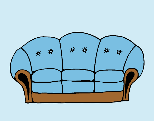 Coloring page Couch painted byLornaAnia