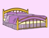 Coloring page Full-size bed painted byLornaAnia