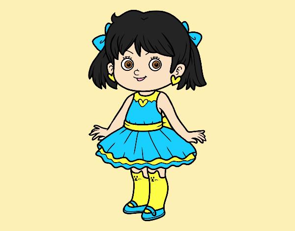 Little girl with modern dress