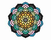 Coloring page Mandala flower petals painted bynayrb