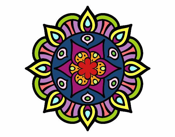 Coloring page Mandala vegetal life painted bylisa2018