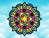 Coloring page Mandala vegetal life painted bynayrb
