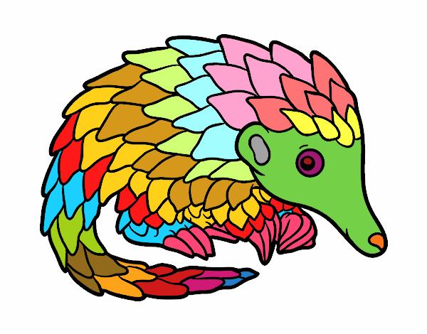 Coloring page Pangolin painted bylibbi