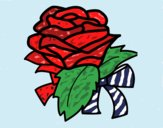Coloring page Rose, flower painted byJena