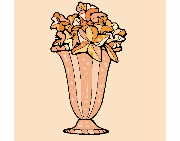 Coloring page Vase of flowers 2a painted byJena