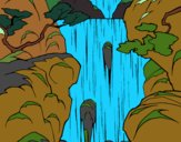 Coloring page Waterfall painted bynayrb