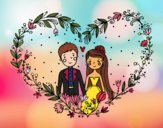 Coloring page Wedding heart painted bySkye