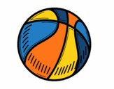 Coloring page A basketball painted byholly1980