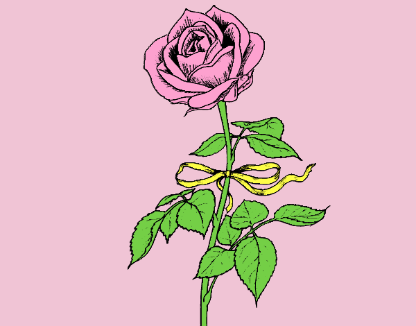 Coloring page A rose painted byLornaAnia