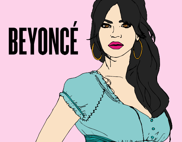 Coloring page Beyoncé B-Day painted byLornaAnia