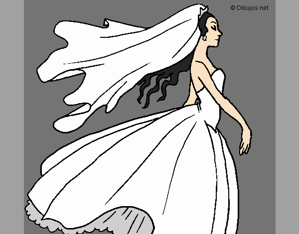 Coloring page Bride painted byLornaAnia