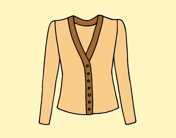 Coloring page Cardigan painted byLornaAnia