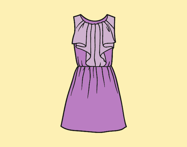 Coloring page Cocktail dress painted byLornaAnia